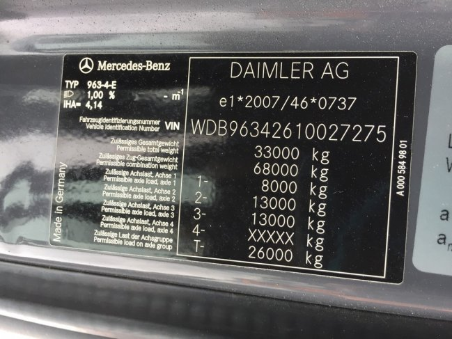 Mercedes-Benz  Actors 3348 6x4 Euro 6 (14)