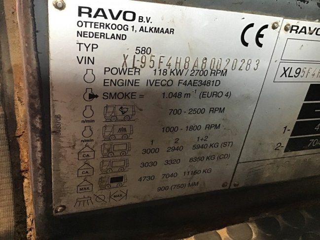 Ravo  580 EURO 4 80 km/h with 3-rd brush (7)