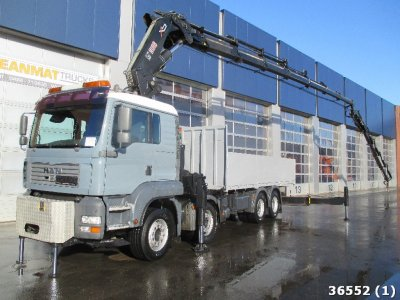MAN TGA 41.430 BB 8x4 Hiab 80 ton/meter Kran + Fly-Jib and Front outriggers